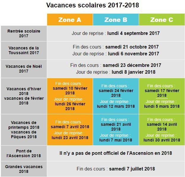 Vacances scolaires 2017 2018 venez glisser avec nous - Vacances toussaint 2017 rennes ...